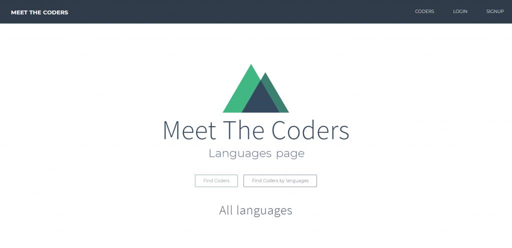Controllers d'Adonis.js : La nouvelle page Languages de notre application Meet The Coders... encore un peu vide ;-)