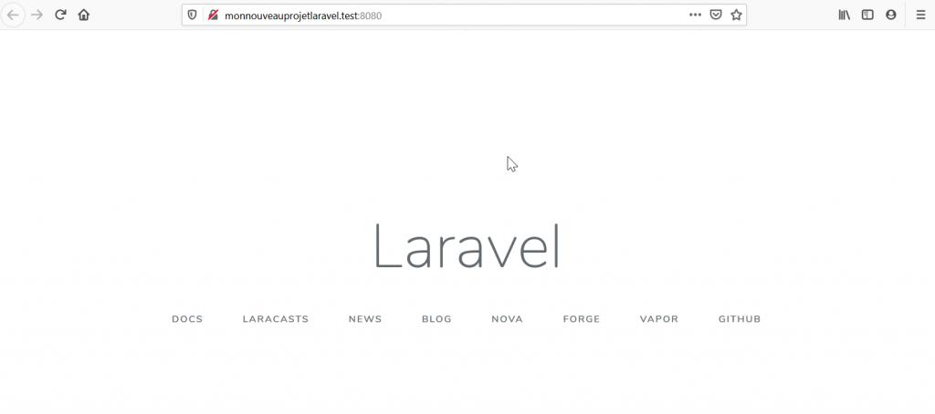 Laravel est installé !