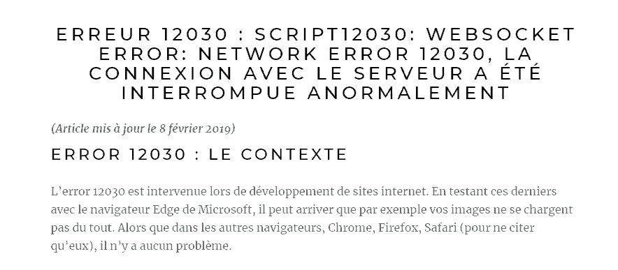 Error 12030 Microsoft Edge