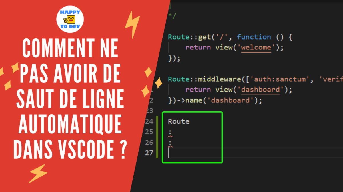 Comment ne pas avoir de saut de ligne automatique dans VSCode ?