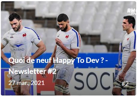 Apprendre le développement web - Newsletter Quoi de neuf HappyToDev ?
